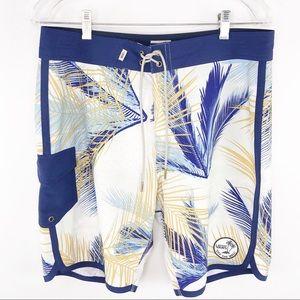 Vans Tropical Palm Leaf Board Surf Swim Shorts 33